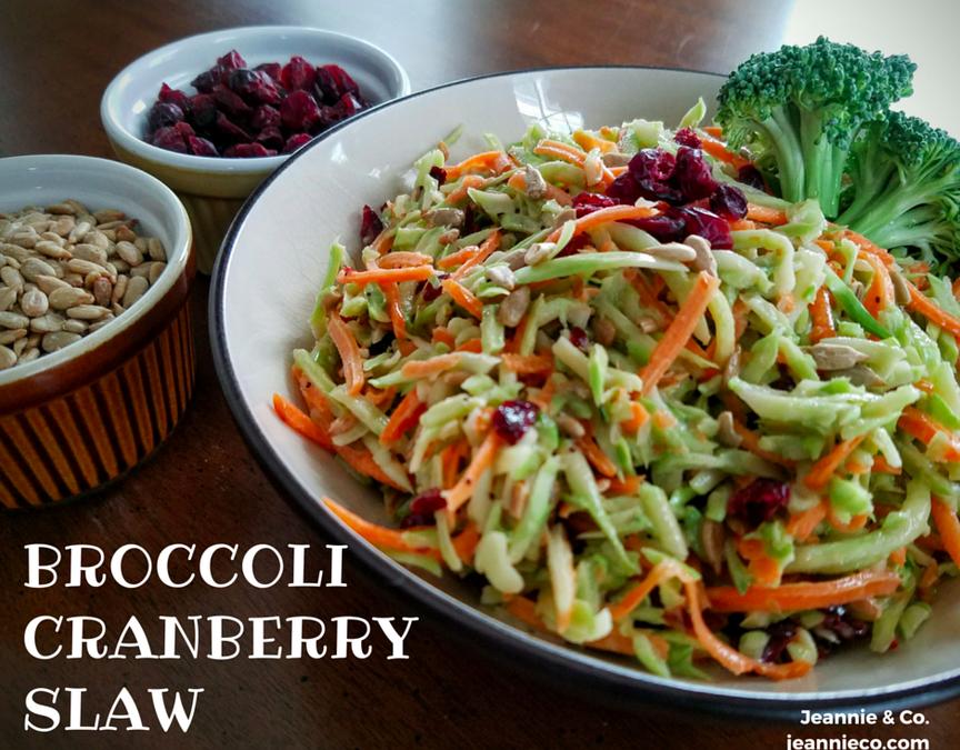 Save The Stems! Broccoli Cranberry Slaw